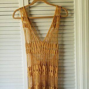 Jennifer Lopez Crochet-Style Sweater Vest